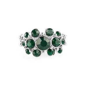 Billion Dollar Bombshell – Green Rhinestone Ring